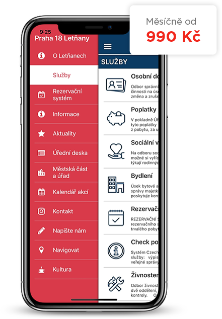 Mobile application for cities and municipalities
