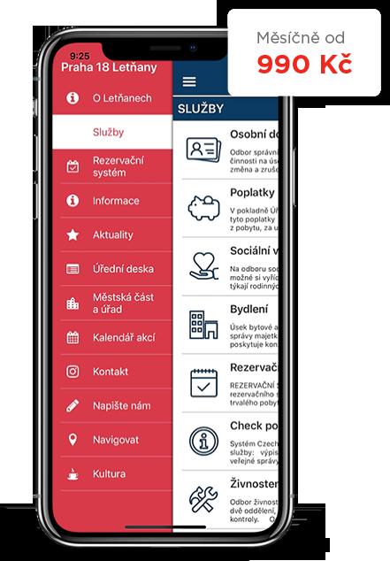 Mobilní aplikace pro města a obce